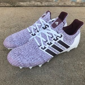 Adidas Texas A&M UltraBOOST cleats white/maroon
